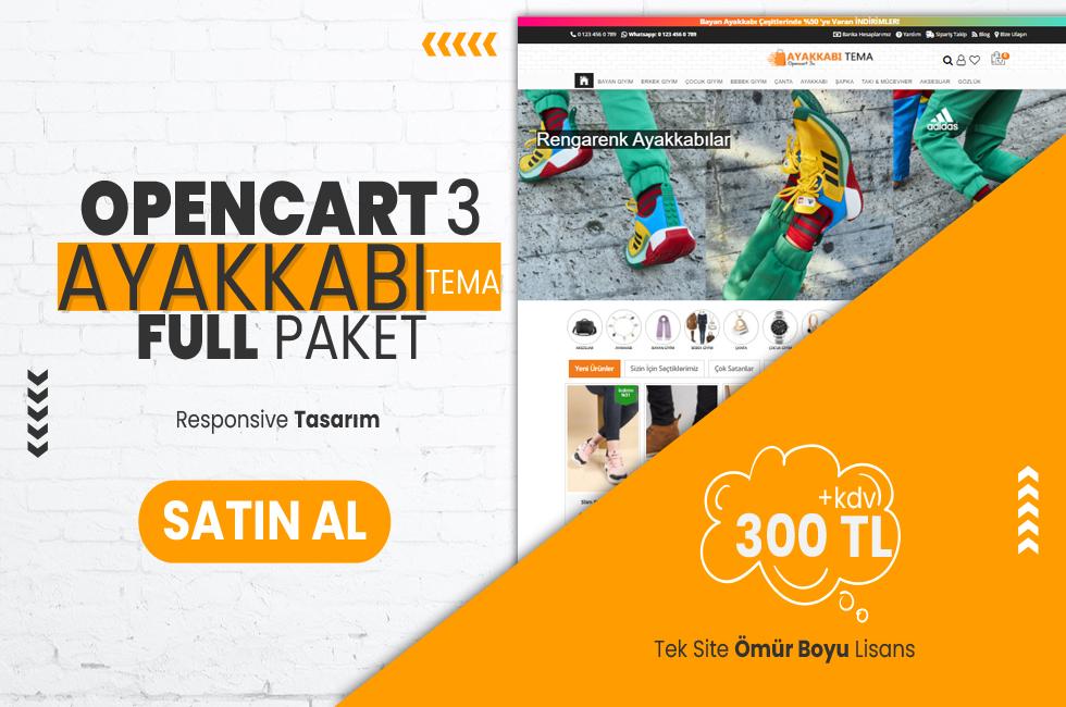 Opencart 3.x Ayakkabı v2 Full Paket