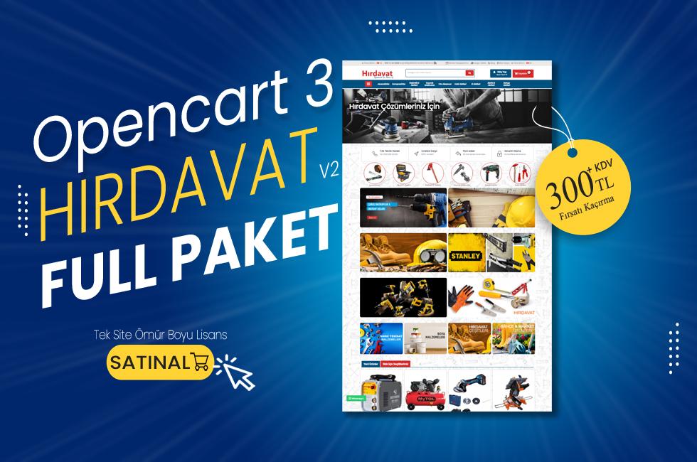 Opencart 3.x Hırdavat v2 Full Paket