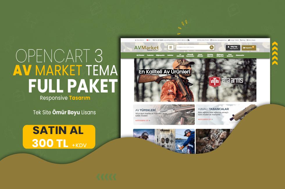 Opencart 3.x Av Market Full Paket