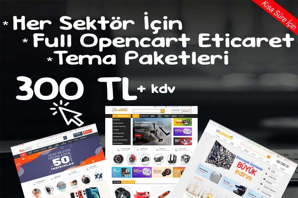 Opencart Full E-Ticaret Paketleri