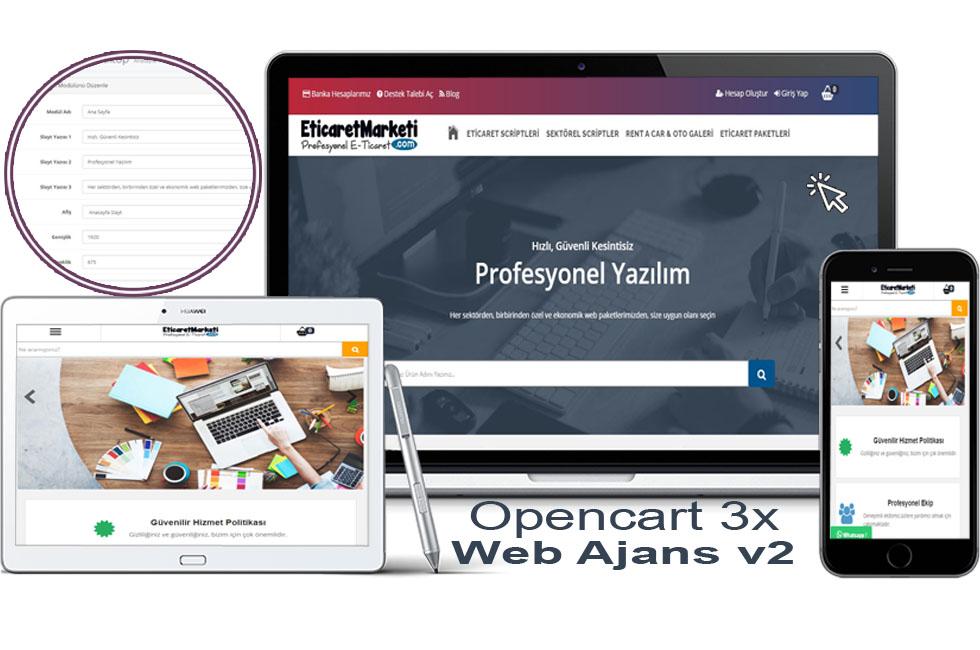 Opencart 3.x Web Ajansv2 Tema Full Paket