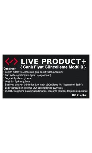 Live Product + (canlı fiyat güncellemesi)