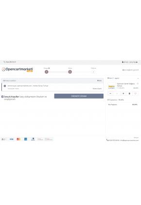 Opencart Ajax Tek Sayfa Ödeme v2