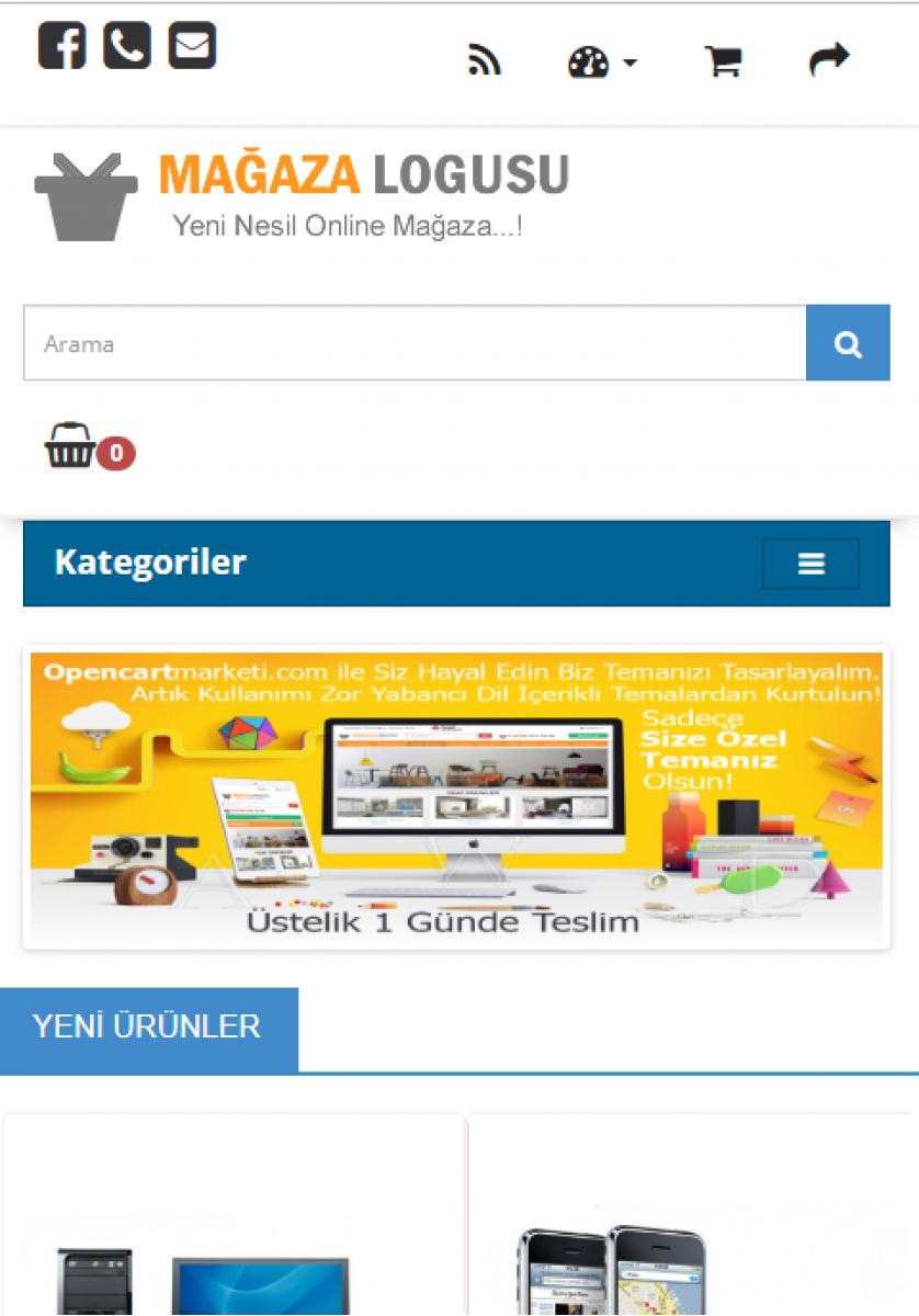 Opencart 2x Elektronik Teması