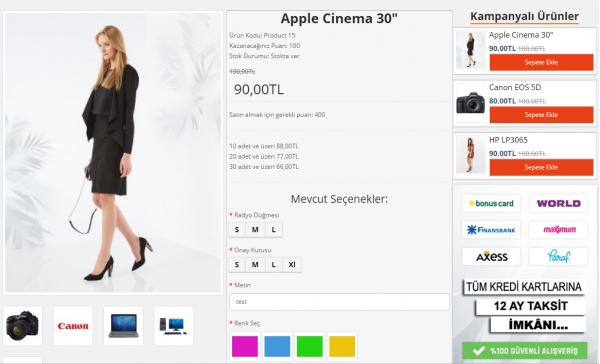 Opencart 2x Moda Giyim Teması