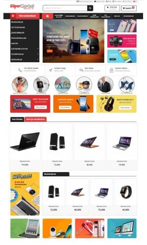 Opencart 3.x Süper Market Full Paket