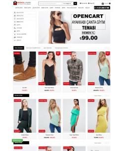 Opencart 3.x Ayakkabı Çanta Moda Full Paket