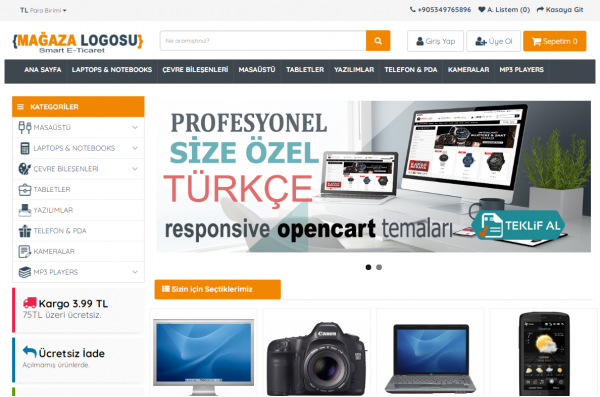 Opencart 3X Genel Marketing v2 Teması