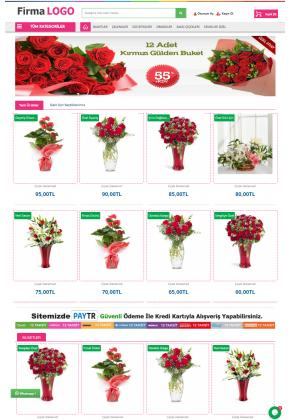Opencart 3x Çiçekçi Full Paket