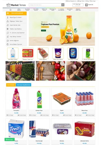 Opencart 3x Market Teması