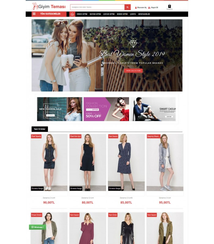 Opencart 3x Moda Giyim v2